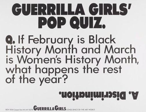 An image of Guerrilla Girls' Pop Quiz by Guerrilla Girls