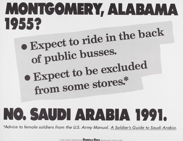 Montgomery, Alabama 1955?, (1991), Portfolio Compleat 1985-2012 by Guerrilla Girls