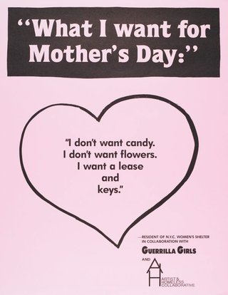 AGNSW collection Guerrilla Girls What I want for Mother's Day (1991) 150.2014.35
