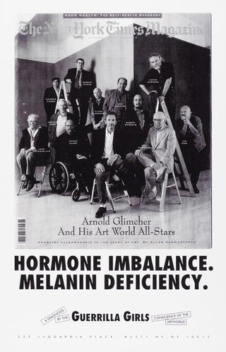 AGNSW collection Guerrilla Girls Hormone imbalance, Melanin deficiency 1993