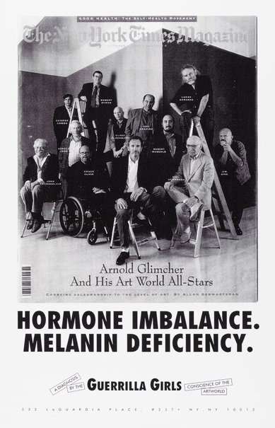 An image of Hormone imbalance, Melanin deficiency by Guerrilla Girls