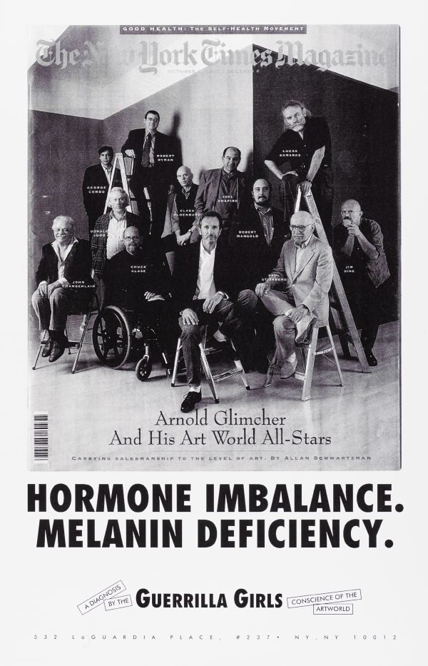 Hormone imbalance, Melanin deficiency, (1993), Portfolio Compleat 1985-2012 by Guerrilla Girls