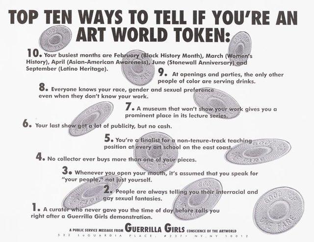 An image of Top ten signs that you're an artworld token