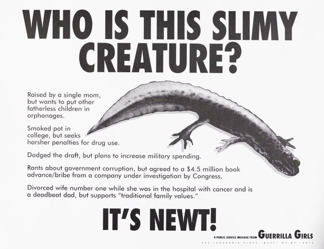 Who is this slimy creature?, (1995), Portfolio Compleat 1985-2012 by Guerrilla Girls