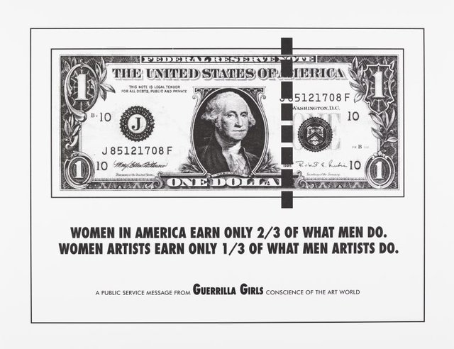 Women in America earn only 2/3 of what men do, (1985), Portfolio Compleat 1985-2012 by Guerrilla Girls