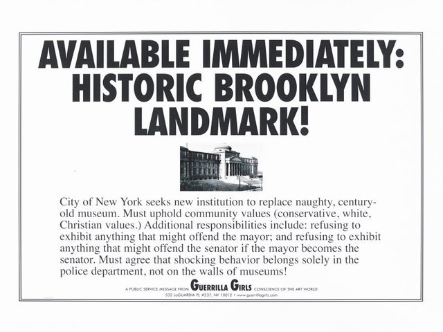 Brooklyn landmark, (1999), Portfolio Compleat 1985-2012 by Guerrilla Girls