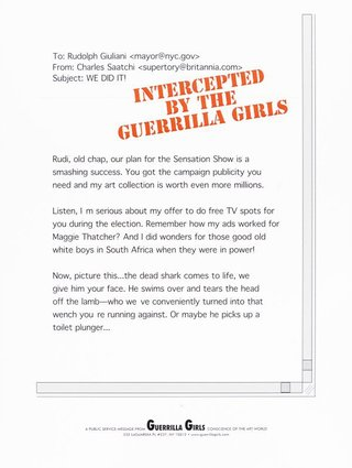 AGNSW collection Guerrilla Girls Intercepted by the Guerrilla Girls 1999