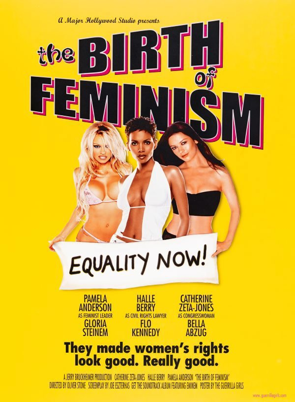 Birth of Feminism poster, (2001), Portfolio Compleat 1985-2012 by Guerrilla Girls