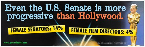 An image of Trent L'ottscar billboard by Guerrilla Girls