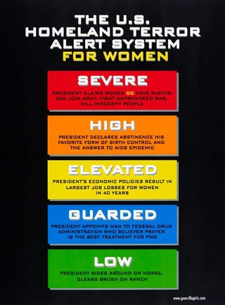 AGNSW collection Guerrilla Girls Women's terror alert (2003) 150.2014.69