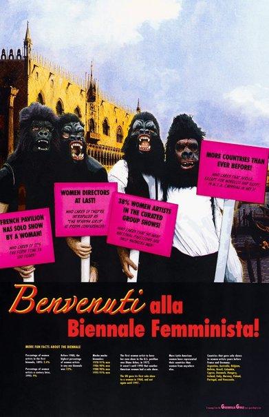 An image of Benvenuti alla Biennale Femminista, project for the Venice Biennale by Guerrilla Girls