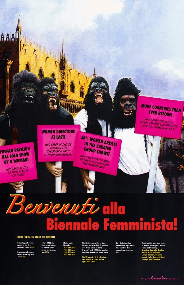 Benvenuti alla Biennale Femminista, project for the Venice Biennale, (2005), Portfolio Compleat 1985-2012 by Guerrilla Girls