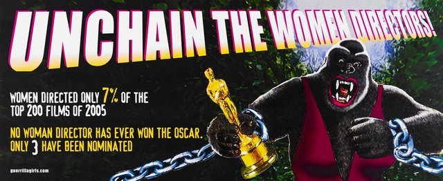 Unchain the women directors billboard, (2006), Portfolio Compleat 1985-2012 by Guerrilla Girls