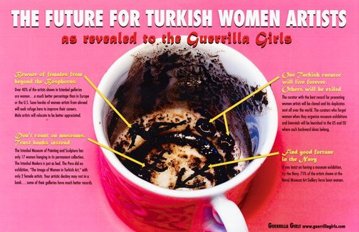 An image of The future for Turkish women artists by Guerrilla Girls