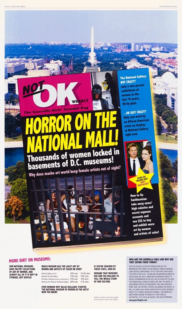 Horror on the National Mall, (2007), Portfolio Compleat 1985-2012 by Guerrilla Girls