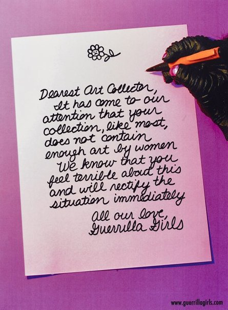 An image of Dear art collector by Guerrilla Girls