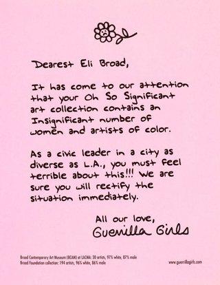 AGNSW collection Guerrilla Girls Dearest Eli Broad 2008