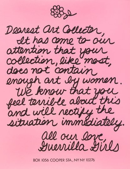 AGNSW collection Guerrilla Girls Dearest Art Collector (1986) 150.2014.8
