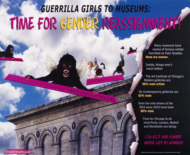 AGNSW collection Guerrilla Girls Gender reassignment (2012) 150.2014.85