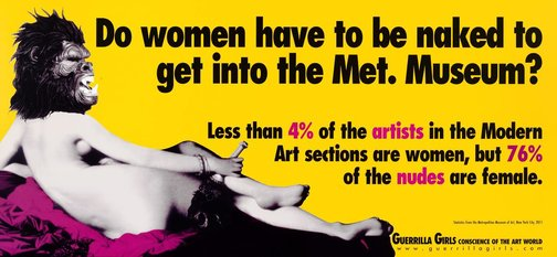 An image of Do women have to be naked to get into the Met? Update by Guerrilla Girls