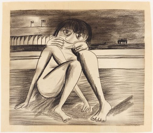 An image of Beach by Charles Blackman