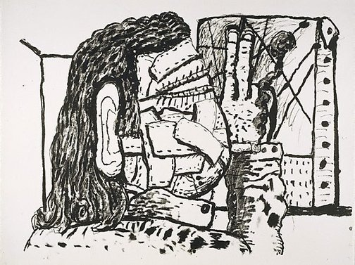 An image of Painter by Philip Guston