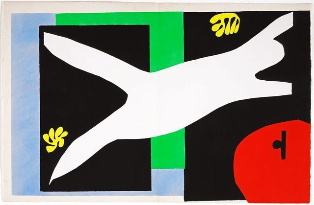 The swimmer in the tank, (1947), Jazz by Henri Matisse