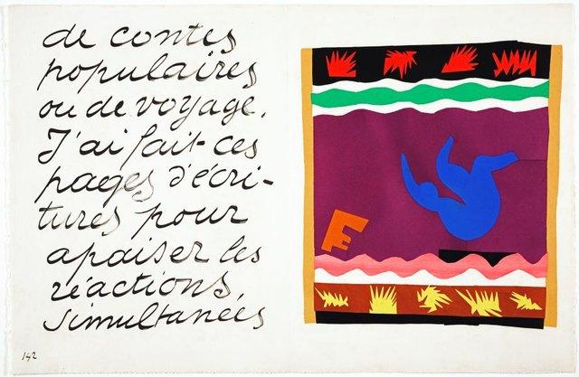 The toboggan, (1947), Jazz by Henri Matisse