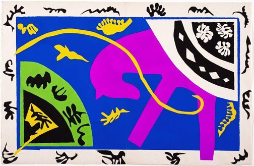 An image of The horse, the rider and the clown by Henri Matisse