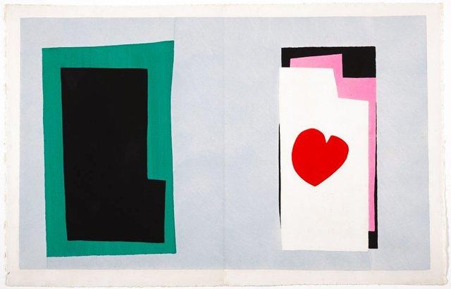 The heart, (1947), Jazz by Henri Matisse