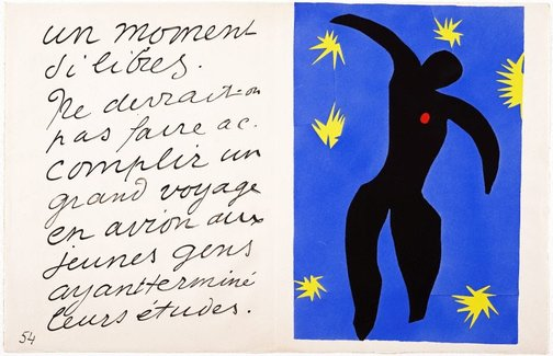 An image of Icarus by Henri Matisse