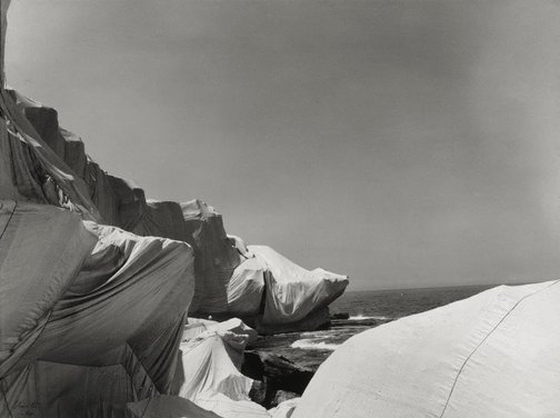 An image of Wrapped Coast, One Million Square Feet, Little Bay, Sydney, Australia by Christo, Jeanne-Claude