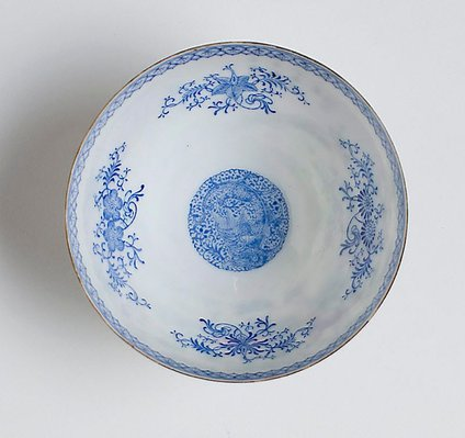 Alternate image of Blue and white 'shining' bowl by