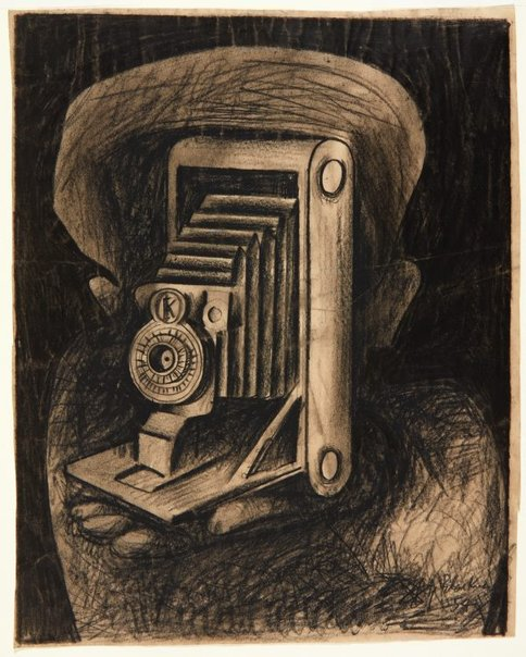 An image of Camera II by Charles Blackman