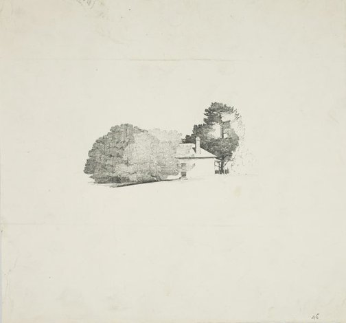 An image of House with trees by Lloyd Rees