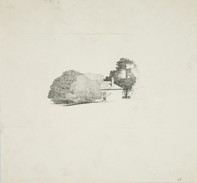 An image of House with trees