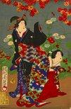 Alternate image of Beauties and flowers by Toyohara (Yōshū) Chikanobu