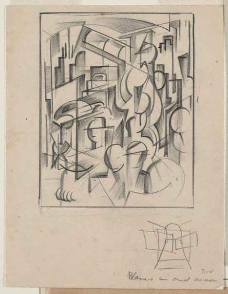 An image of Planes in and around (Study for Tram kaleidoscope) by Frank Hinder
