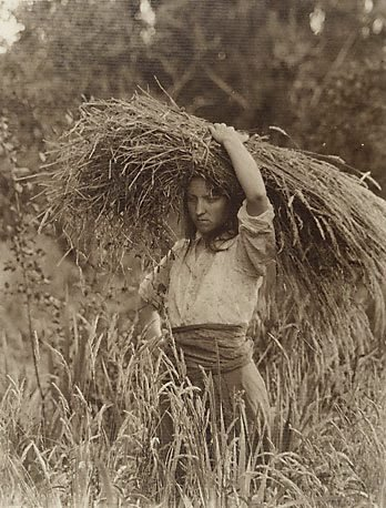An image of Harvest time (girl with wheat sheaf facing left)