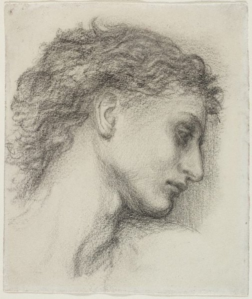 An image of Study for the head of Saint George by Sir Edward Coley Burne-Jones