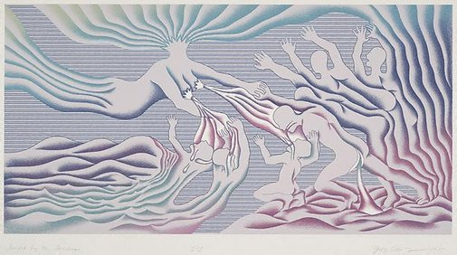 An image of Guided by the Goddess by Judy Chicago