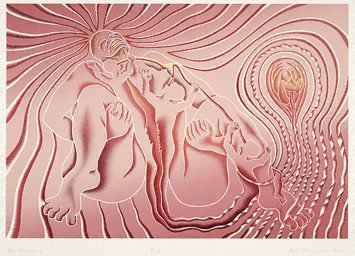 An image of Birth tear/tear by Judy Chicago