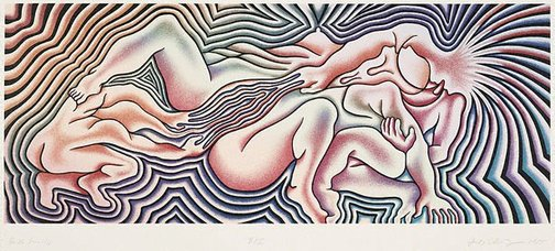 An image of Birth trinity by Judy Chicago