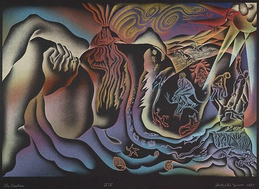An image of The creation by Judy Chicago