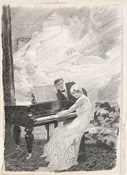 An image of Enigma by Norman Lindsay