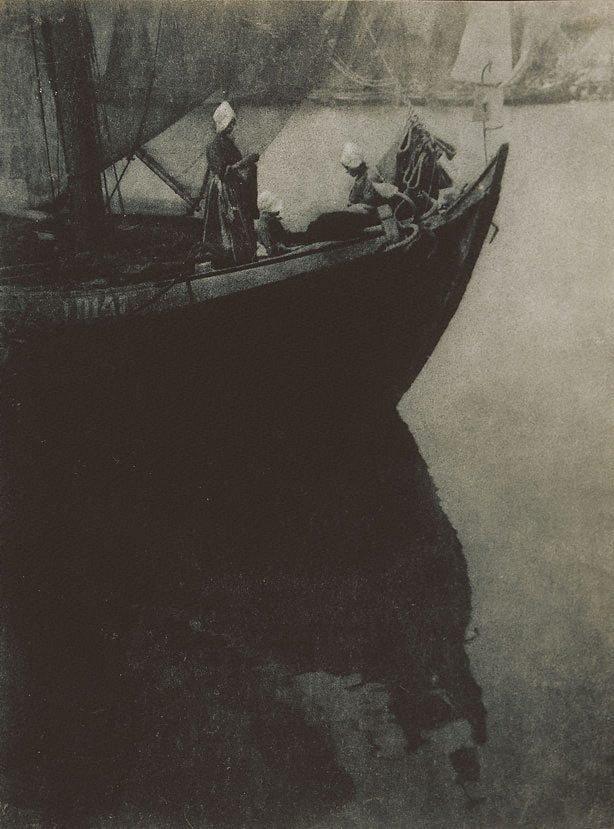 An image of Untitled (three Dutch women in boat)
