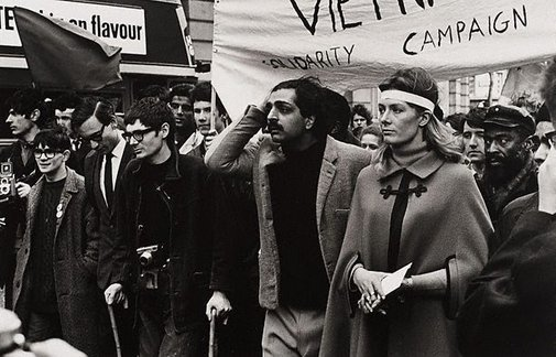 An image of Tariq Ali, Vanessa Redgrave, Noel Tovey and others at the Anti-Vietnam war demonstration, London by Lewis Morley