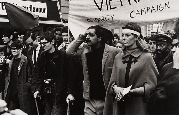 An image of Tariq Ali, Vanessa Redgrave, Noel Tovey and others at the Anti-Vietnam war demonstration, London