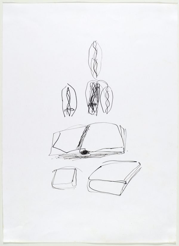 An image of Faces and books