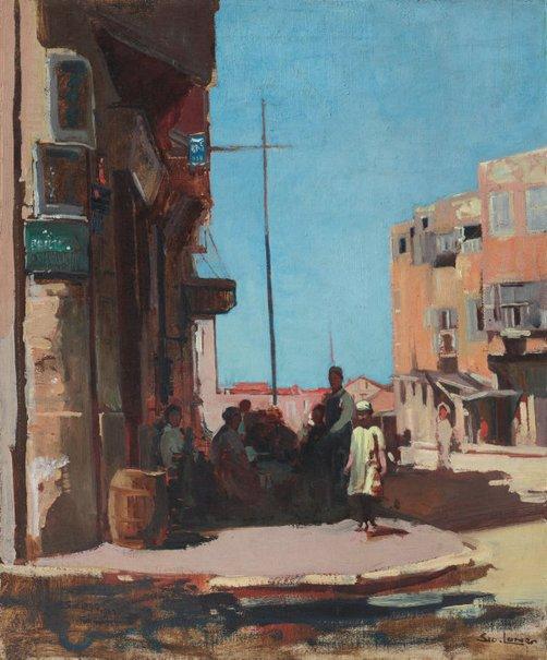 An image of Street scene, Alexandria by Sydney Long